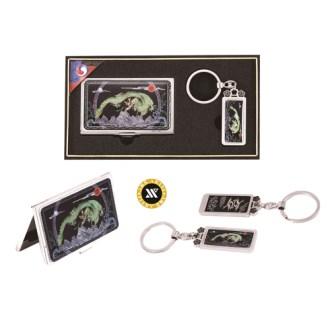[명함지갑/명함지갑세트/열쇠고리세트] 드레곤자개명함+열쇠고리