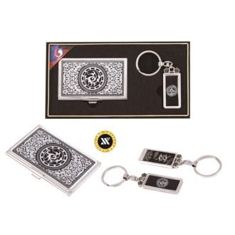 [명함지갑/명함지갑세트/열쇠고리세트] 삼족오자개명함+열쇠고리
