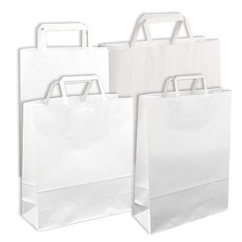 화이트 자동 크라프트 쇼핑백(5종)