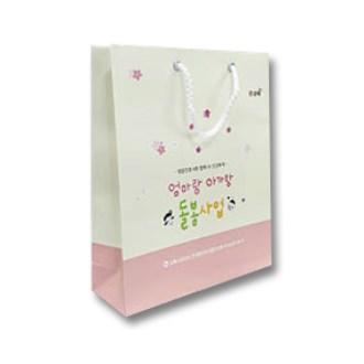 [쇼핑백]종이가방 종이쇼핑백-3 / 180x290x75mm(4절)