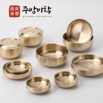 주방미학 티타늄 놋그릇 방짜유기 유기그릇 반상기 2인 세트(12pcs) [특판상품]