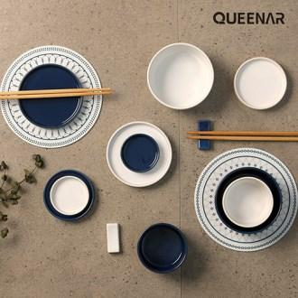 퀸나 어반 14P 그릇 젓가락 도자기 홈세트 [특판상품]