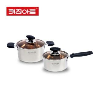 키친아트 EINS 쿡 스텐 2종 냄비세트