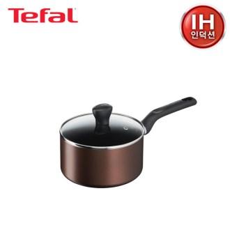 [테팔] 인덕션 초콜릿 티타늄 프로 냄비 편수 18cm [특판상품]
