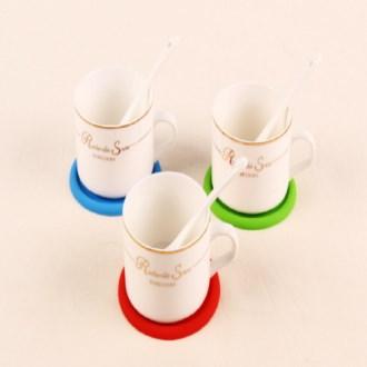 단추 컵받침 / 실리콘 받침