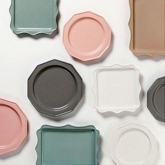 새라 사각 접시 8인치 3color [특판상품]