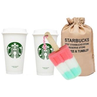 스타벅스 리유저블 그란데 컵 텀블러2P 아이스크림 세척솔 선물 [특판상품]