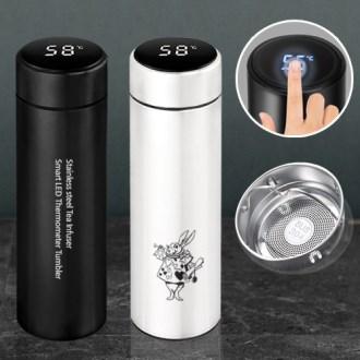 스텐 녹차망 스마트 LED 온도텀블러 500ml (이중진공)보온.보냉 / 304 최고급텀블러
