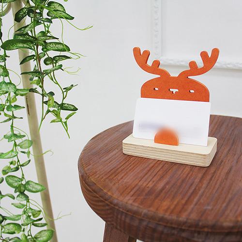 자작나무 사슴 원목 명함꽂이 [특판상품]