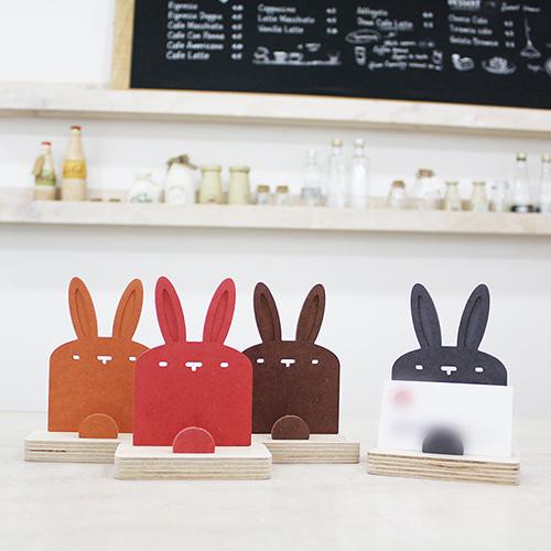 자작나무 토끼 원목 명함꽂이 [특판상품]