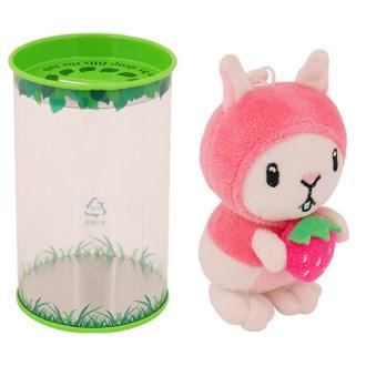 딸기 토끼 인형 저금통