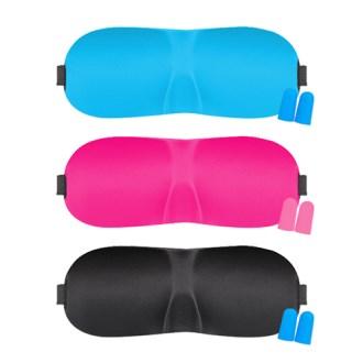 3D입체안대 수면안대(귀마개포함) 블랙 핑크 파랑 인쇄가능 [특판상품]