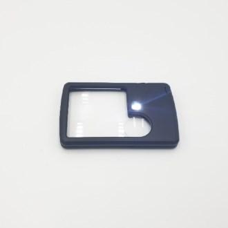 카드클립형 LED 돋보기 포켓형 확대경 휴대용 루페