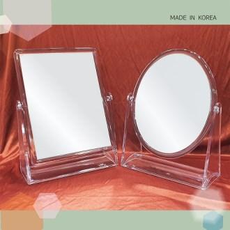 투명 양면 사각탁상거울(404S,405S)