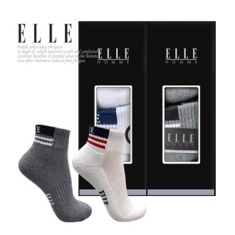 [ELLE] 엘르 골프스포츠양말 남녀 2족세트