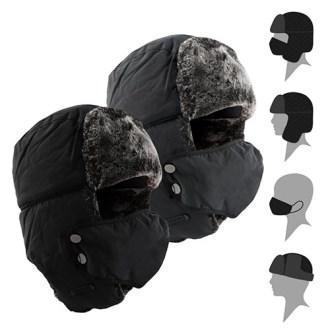 무지 방한 마스크 모자