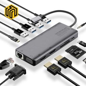 씽크웨이 CORE D84 트리플 HDMI 13in1 멀티포트 허브 [특판상품]