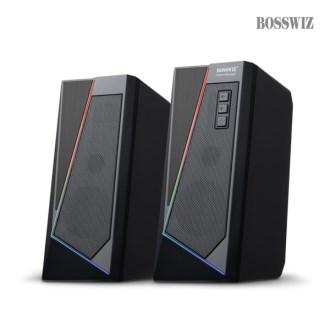 보스위즈 OCS-S20 RGB 터치 LED 2채널 USB 스피커 [특판상품]