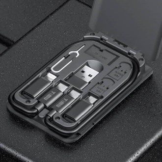 [티뮤]올인원 멀티충전케이블키트 베이직 C타입,8핀,5핀,PD [특판상품]