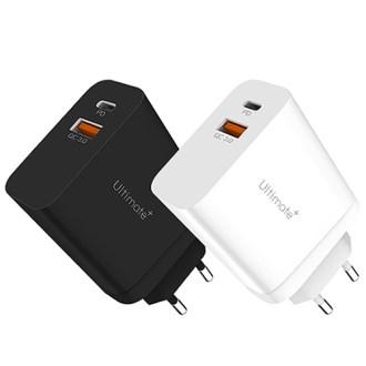 얼티밋 30W PD(C타입)+USB(QC3.0) 2포트 차량용 급속충전기 [특판상품]
