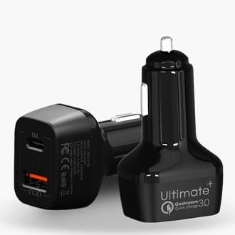 얼티밋 차량용 QC3.0+PD 지원 2포트 고속충전기 [특판상품]