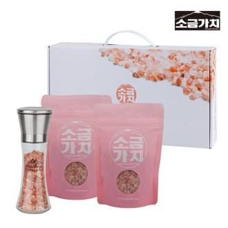 소금 가치 히말라야 핑크소금 3종세트(파우치+그라인더) [특판상품]