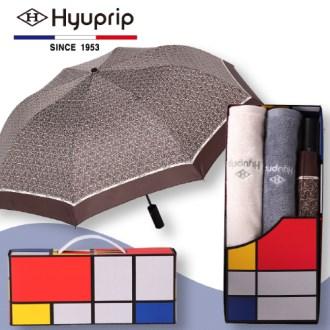 협립 2단 태극패턴 우산 1P+코마호텔타월 2P세트