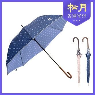 [송월우산] 스누피 장 도트 곡자 60