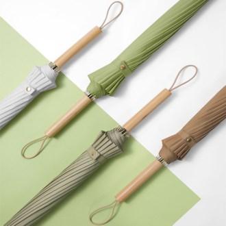 파스텔 우드 장우산 / 컬러다양/심플우산/로멘틱우산