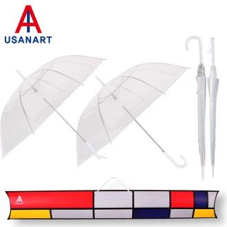 우산아트 60비닐실바이어스+60일자비닐 우산2P세트