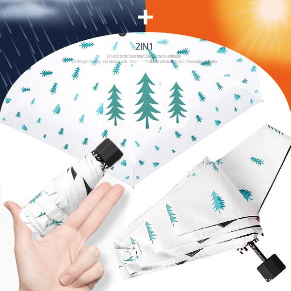 5단 암막 양우산 - 그린트리 / UV 자외선차단/미니/양산겸용/우산/양우산/우양산/암막양산/리버설