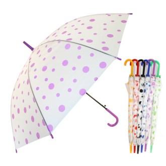 떙땡이 무늬 투명 반투명 비닐우산 [특판상품]