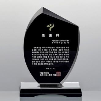 블랙크리스탈 상패 감사해 공로패 송공패 SD12-008