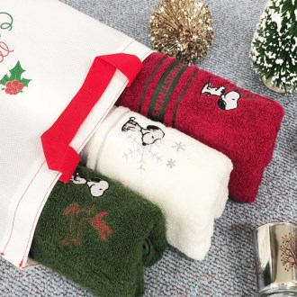 송월 크리스마스 3P타올 (스누피)