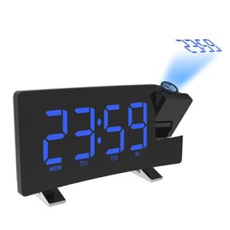 라디오 빔프로젝션 커브드 디지털 LED 시계 BR8831 블랙 [특판상품]