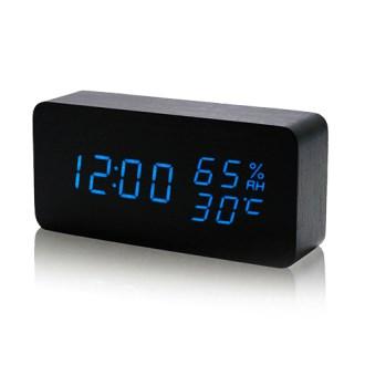 모던오피스 LED우드 탁상시계(AA025)