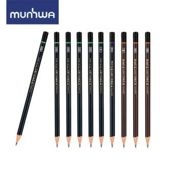 문화 더존연필(H-6H,HB,B,2B)